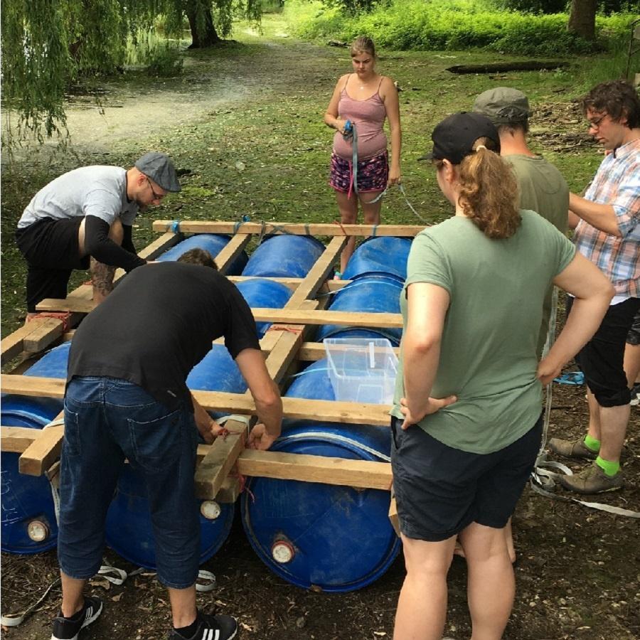 Teamevent Floßbau