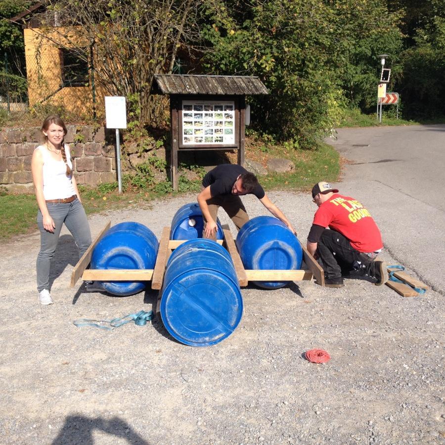 Teambuilding Floßbau